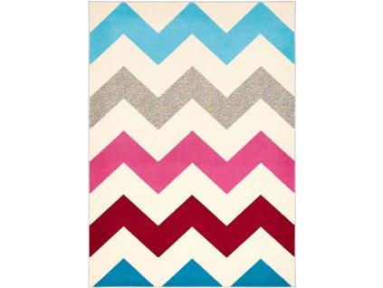 Kusový koberec Agnella Funky Top Super Cikcak růžový