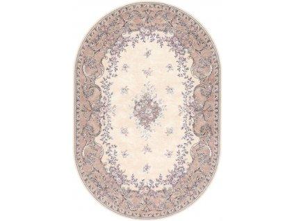 Oválný koberec Agnella Isfahan Dafne Alabastrový