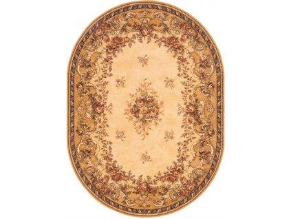 Oválný koberec Agnella Isfahan Dafne Sahara