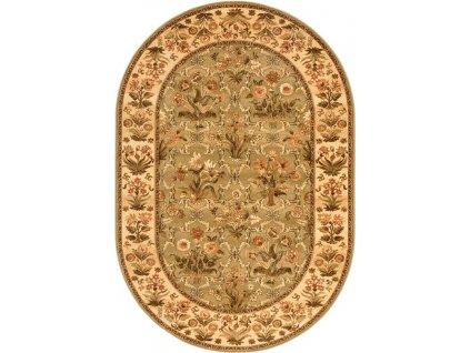 Oválný koberec Agnella Isfahan Olandia Olivový