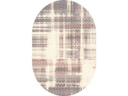 Oválný koberec Agnella Isfahan Tadea Alabastrový