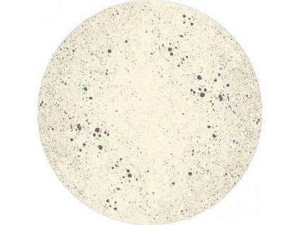 Kulatý vlněný koberec Agnella Magic Sean Alabaster