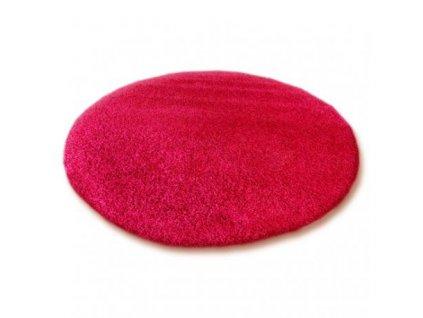 Kulatý koberec SHAGGY 5cm bordó