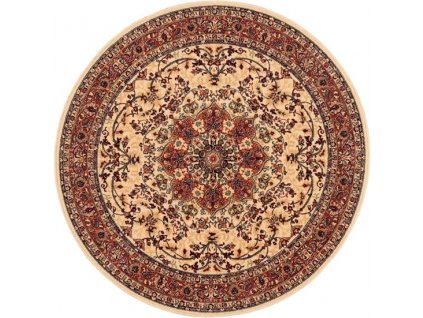 Kulatý vlněný koberec Dywilan Polonia Kordoba Pískový 2