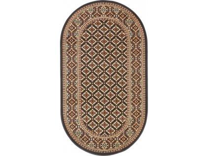 Oválný koberec Agnella Standard Apium Černý