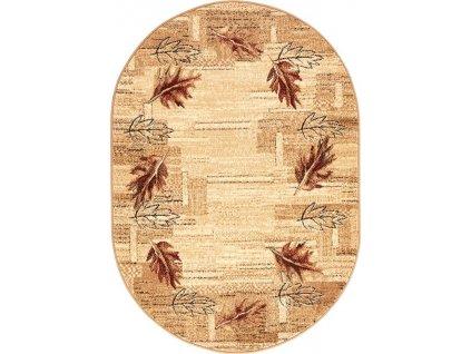Oválný koberec Agnella Standard Olsza Béžový