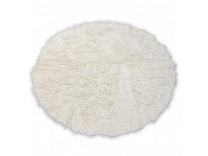 Kulatý vlněný koberec FLOKATI bílý / krémový