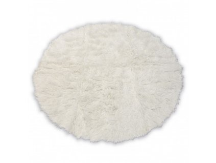 Kulatý vlněný koberec FLOKATI bílý