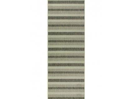 Běhoun Scandigel 7223 pruhovaný šedý / béžový