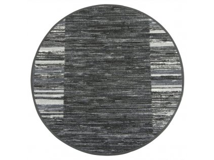 Kulatý koberec pogumovaný Adagio 29 tmavě šedý