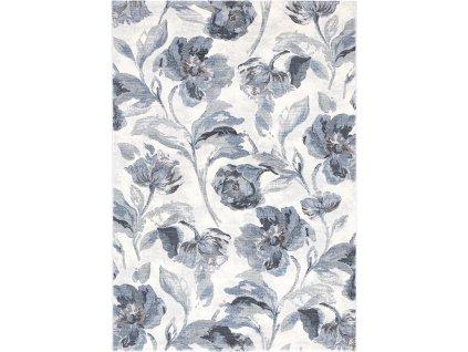 Moderní kusový koberec Ragolle Argentum 63523 6656 Květy modrý/ krémový