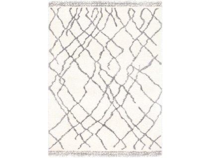 Kusový shaggy koberec Agnella Yoki Miu Bílý