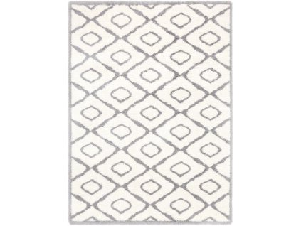 Kusový shaggy koberec Agnella Yoki Ume Bílý