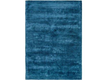 Moderní kusový koberec jednobarevný Boston Balsam Tmavě modrý
