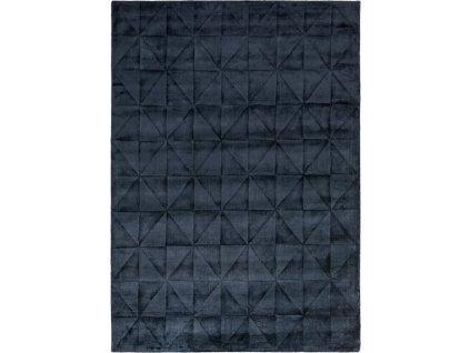 Moderní kusový koberec Pyramid 3D černý