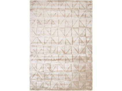 Moderní kusový koberec Pyramid Silver 3D šedý / stříbrný