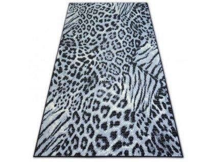 Kusový koberec BCF FLASH AFRIKA 3913 černý šedý