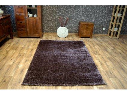 Kusový koberec Shaggy VERONA hnědý