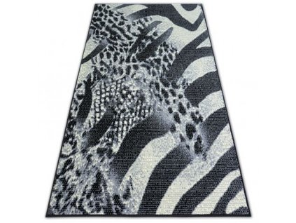 Kusový koberec BCF FLASH SAFARI 3912 černý šedý