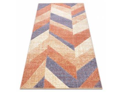 Moderní kusový koberec FEEL 5673/17931 béžový / hnědý / modrý
