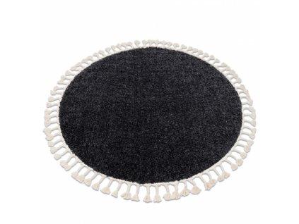 Kulatý koberec BERBER 9000 tmavě šedý