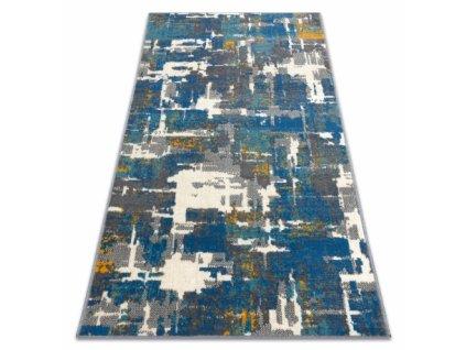 Moderní kusový koberec GINA 21241451 Abstraktní modrý / béžový / šedý