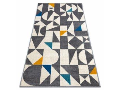 Moderní kusový koberec GINA 21243651 Geometrický béžový / šedý