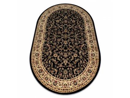 Oválný koberec ROYAL ADR 1745 Klasický černý