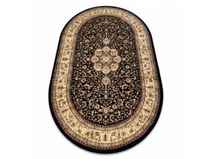 Oválný koberec ROYAL ADR 521 Klasický černý