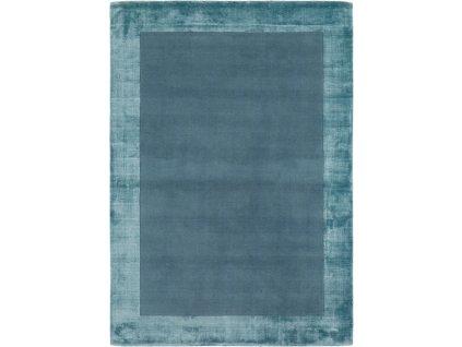 Moderní kusový koberec Ascot Aqua Jednobarevný modrý
