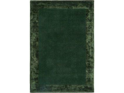Moderní kusový koberec Ascot Jednobarevný zelený