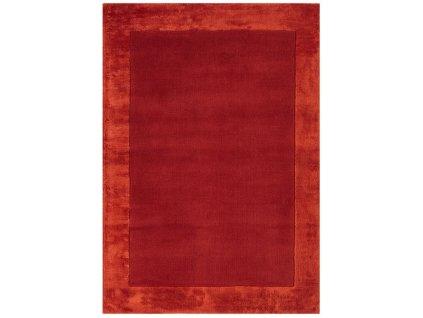 Moderní kusový koberec Ascot Jednobarevný červený