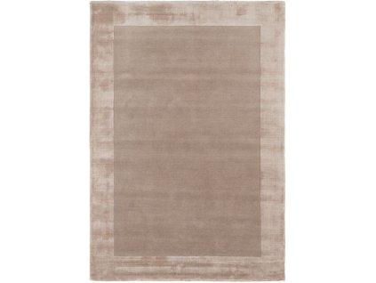 Moderní kusový koberec Ascot Sand Jednobarevný béžový