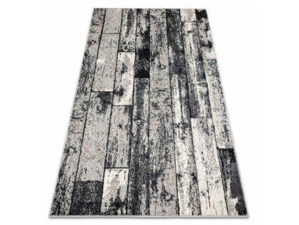 Kusový koberec LISBOA 27211356 Dřevo desky šedý