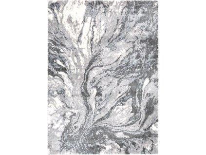 Kusový shaggy koberec Agnella Yoki Sugi Marine šedý