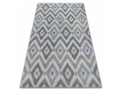 Kusový koberec SOFT 6024 ROMBY krémový / béžový / hnědý
