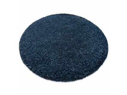 Kulatý koberec vhodný k praní v pračce ILDO 71181090 modrý