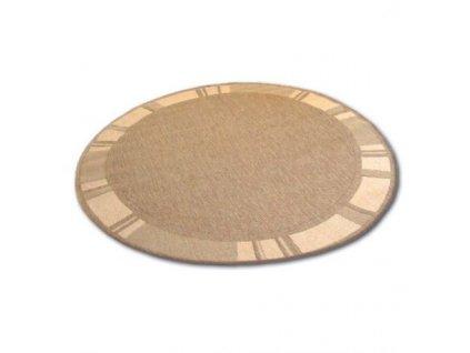 Kulatý koberec Sisal  FLOORLUX 20195 coffee / mais béžový