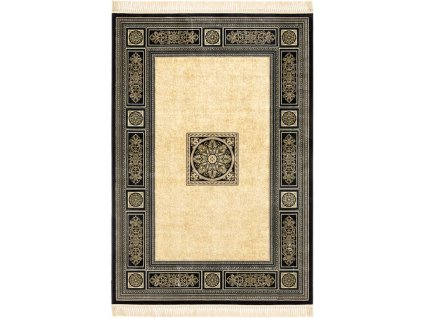 Klasický kusový koberec Ragotex Beluchi 61178 2737 černý / krémový