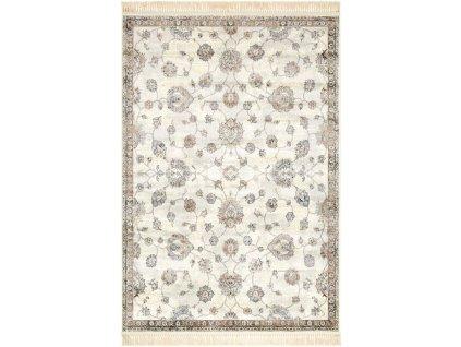 Klasický kusový koberec Ragotex Beluchi 88740 6270 Květy krémový