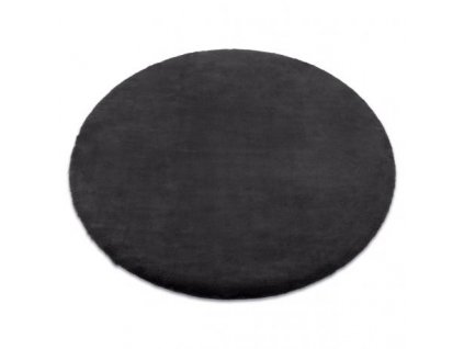 Kulatý koberec BUNNY antracitový