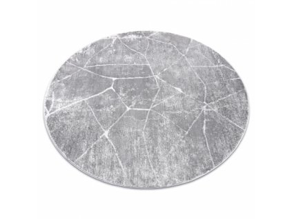 Kulatý koberec MEFE 2783 Mramor šedý