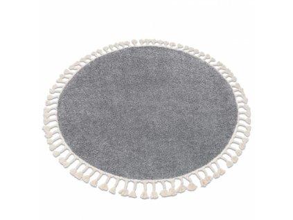 Kulatý koberec BERBER 9000 světle šedý