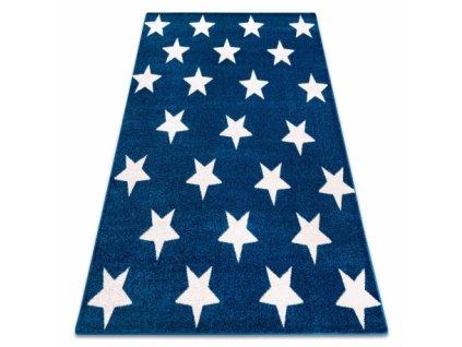 Koberec SKETCH - FA68 Hvězdy modrý bílý