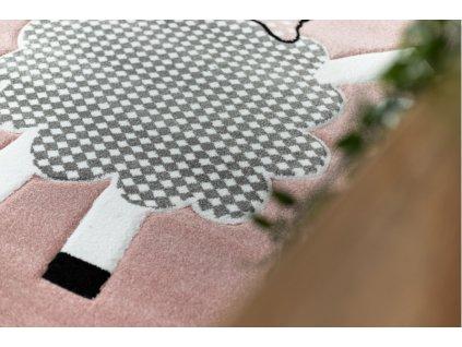 Dětský kusový koberec PETIT Ovečka růžový