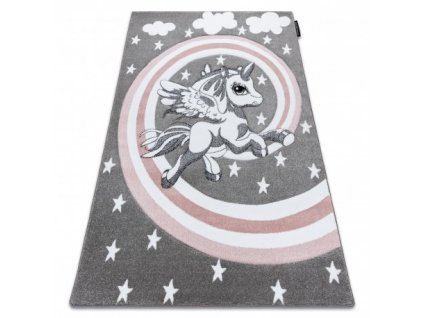 Dětský kusový koberec PETIT Poník šedý