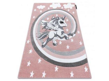 Dětský kusový koberec PETIT Poník růžový