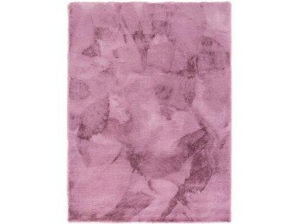 Kusový koberec jednobarevný Veneto fialový