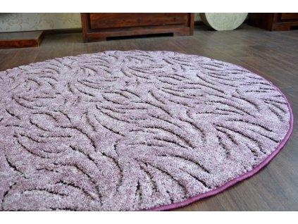 Kulatý koberec IVANO fialový