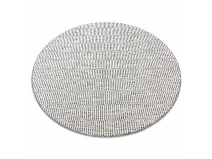 Kulatý koberec SISAL LOFT 21198 slonová kost / stříbrný / béžový